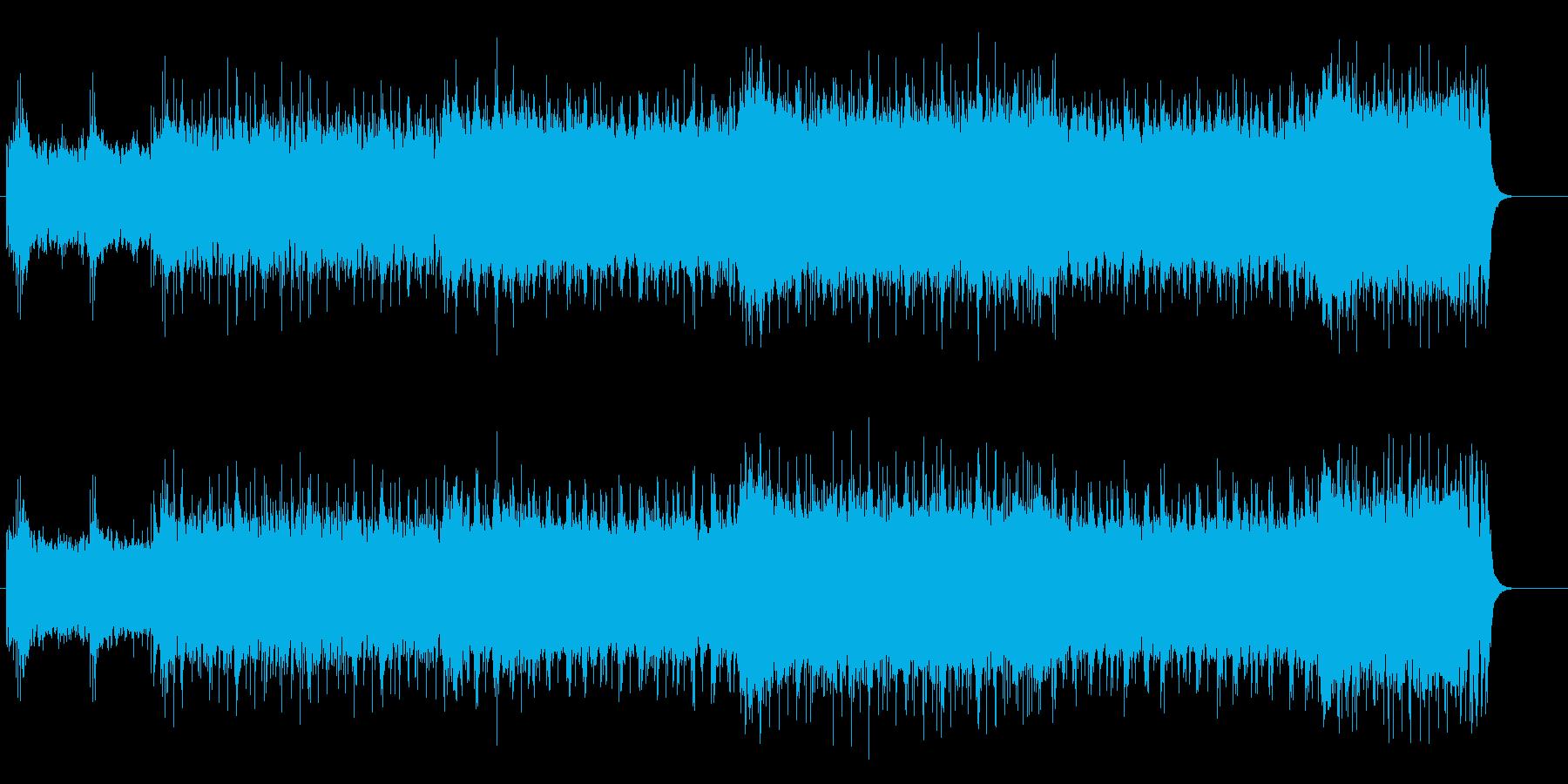スピーディーなハード・ロックの再生済みの波形