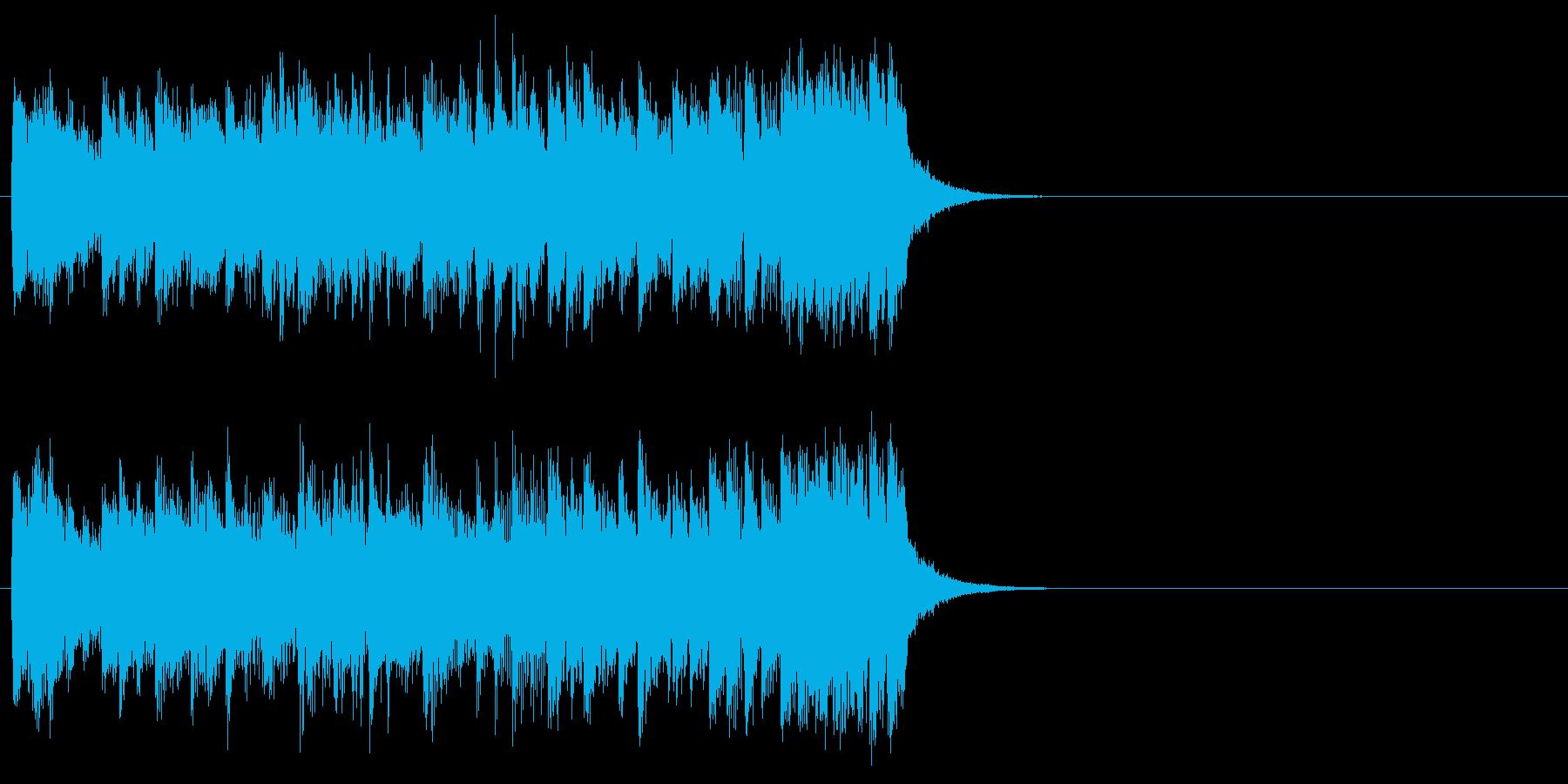 コーナータイトル風ポップのジングルの再生済みの波形