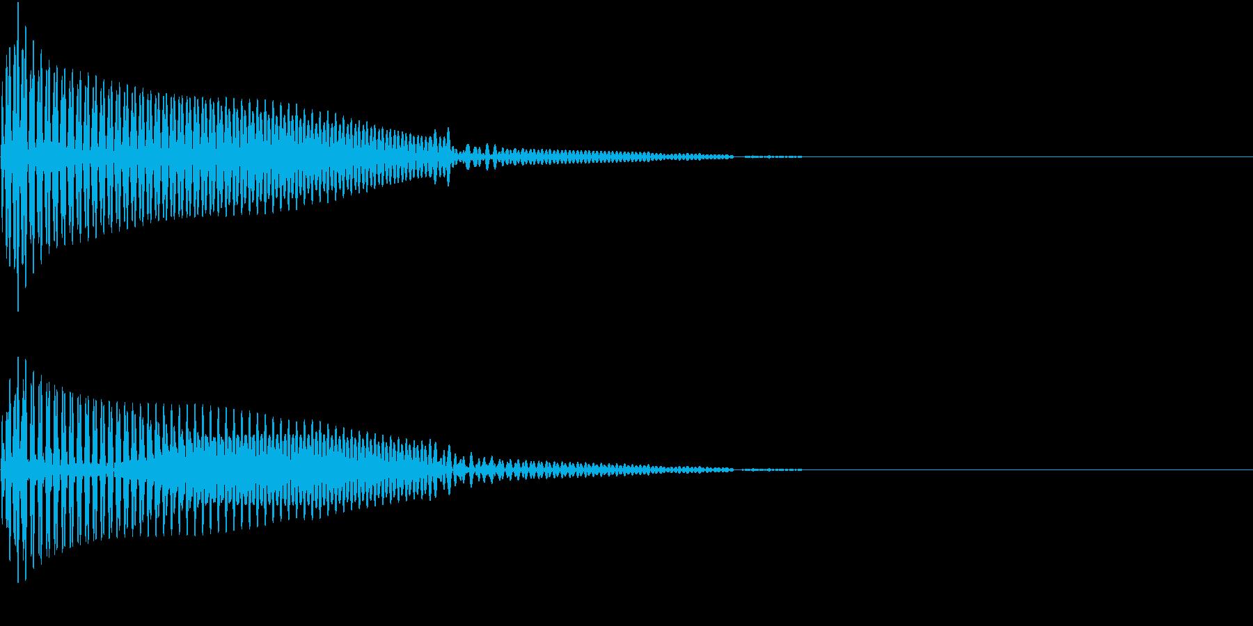 App コマンド音 丸っこい音の再生済みの波形