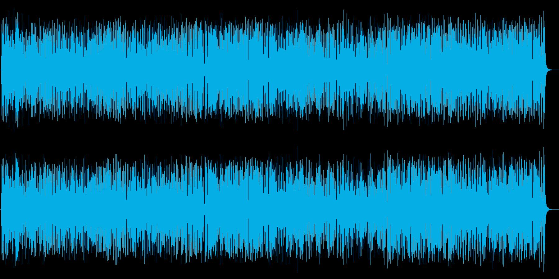 コミカルなリズムの楽しいミュージックの再生済みの波形