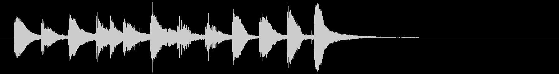 スマホのようなモダンクリーンショートロゴの未再生の波形