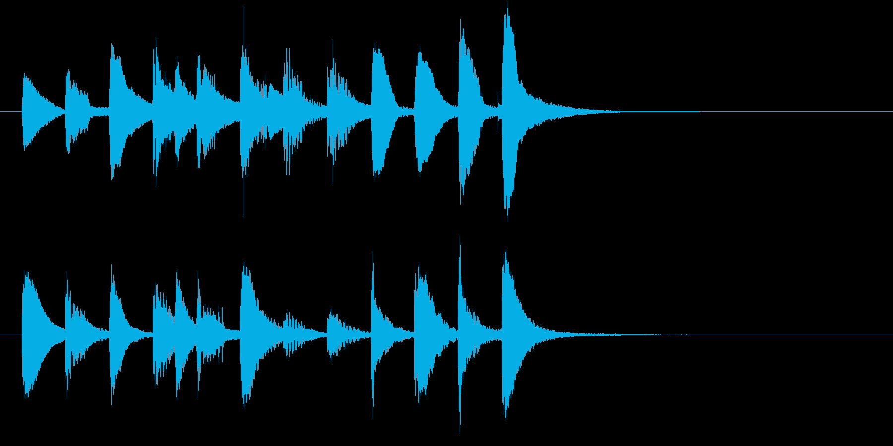スマホのようなモダンクリーンショートロゴの再生済みの波形