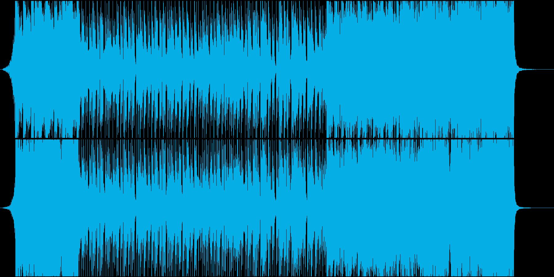 80年代初期のアニメOP風BGMの再生済みの波形