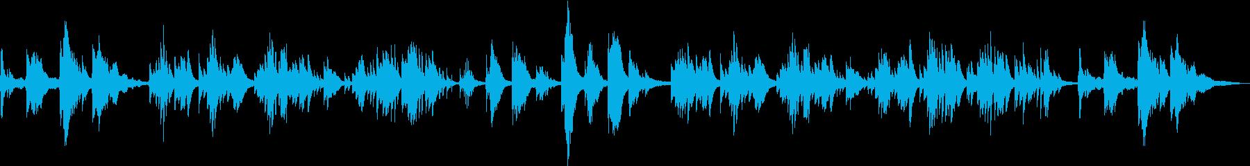 叙情的で切ない透明なピアノアンビエントの再生済みの波形