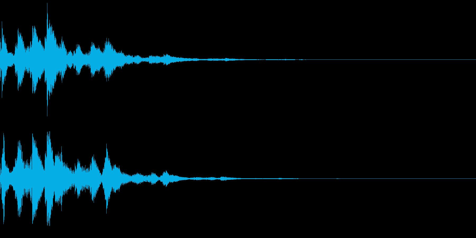 システム音44_シンセCIの再生済みの波形