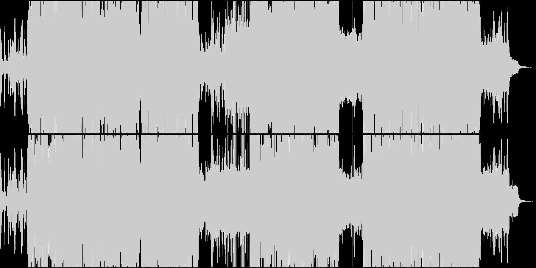 和風のバトル系・疾走感あるロックの未再生の波形
