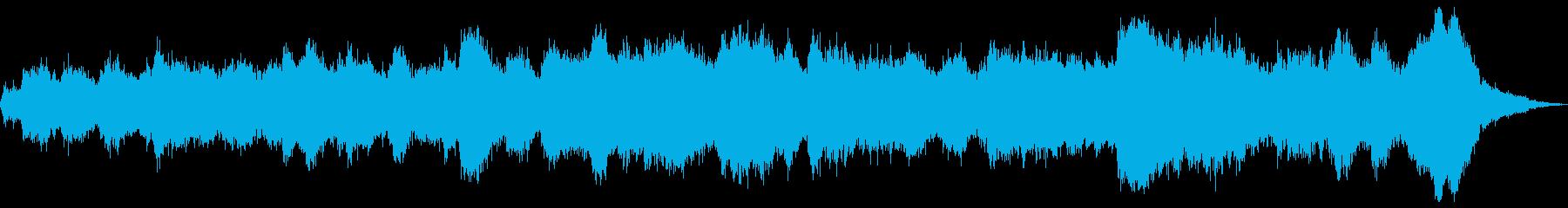 ホラーなアンビエント曲ですの再生済みの波形