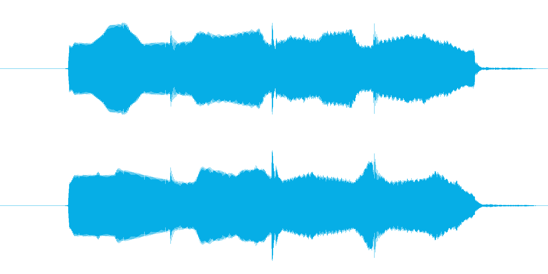ヒント効果音 ひらめき 正解 キラキラの再生済みの波形