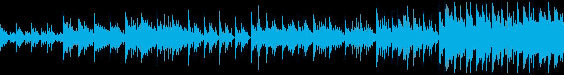 ゆったりとした和風の癒し系楽曲の再生済みの波形