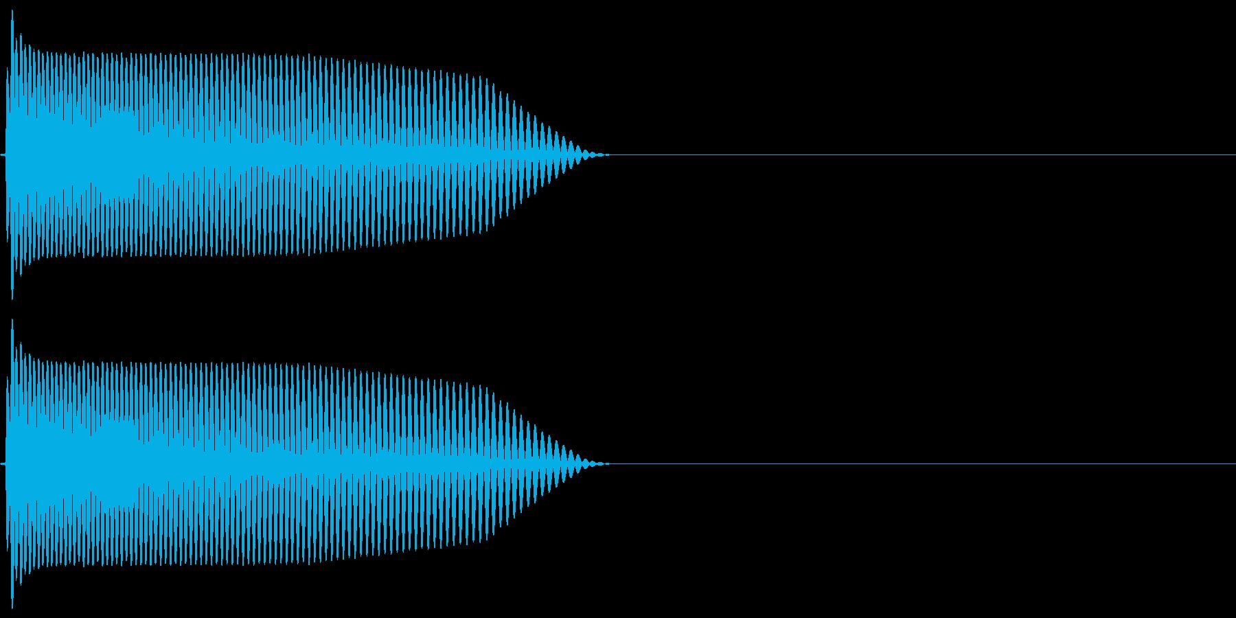ドロップ ドゥーン シンセ系の再生済みの波形