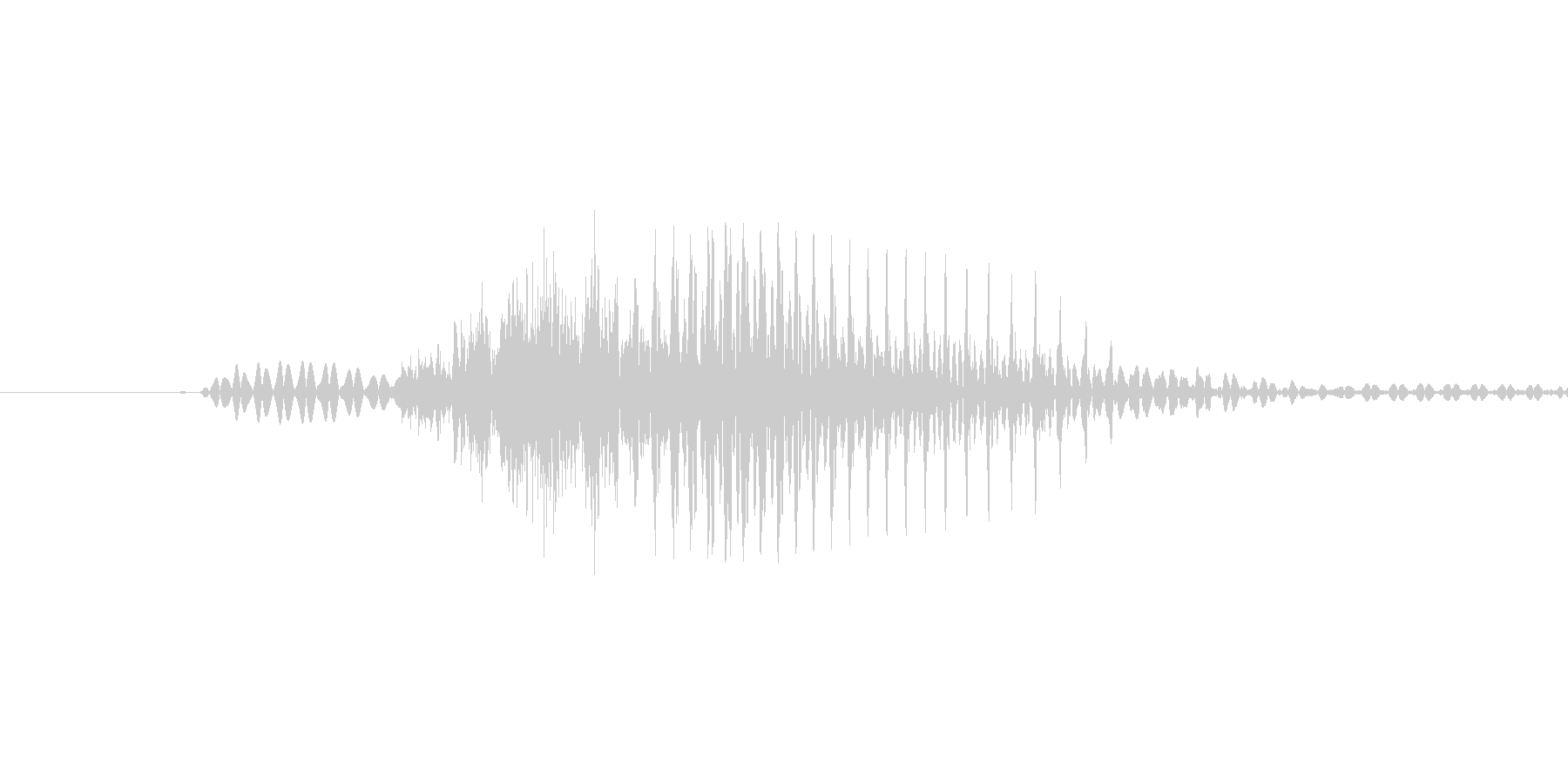「June」英語発音の未再生の波形