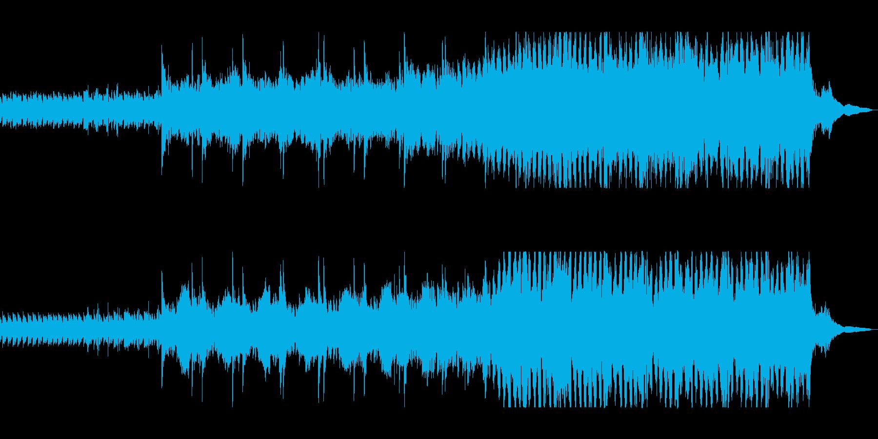 静かで感動的なピアノのバラードの再生済みの波形