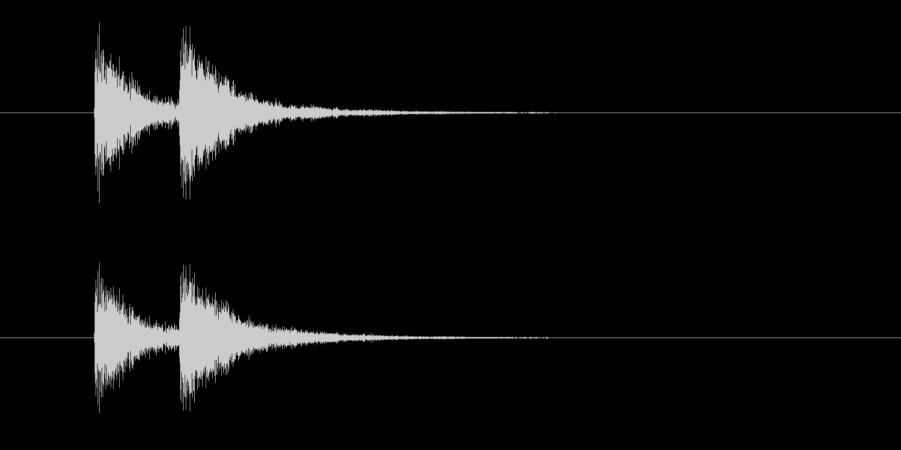 ジャンジャン(終わり、締め、コント)の未再生の波形
