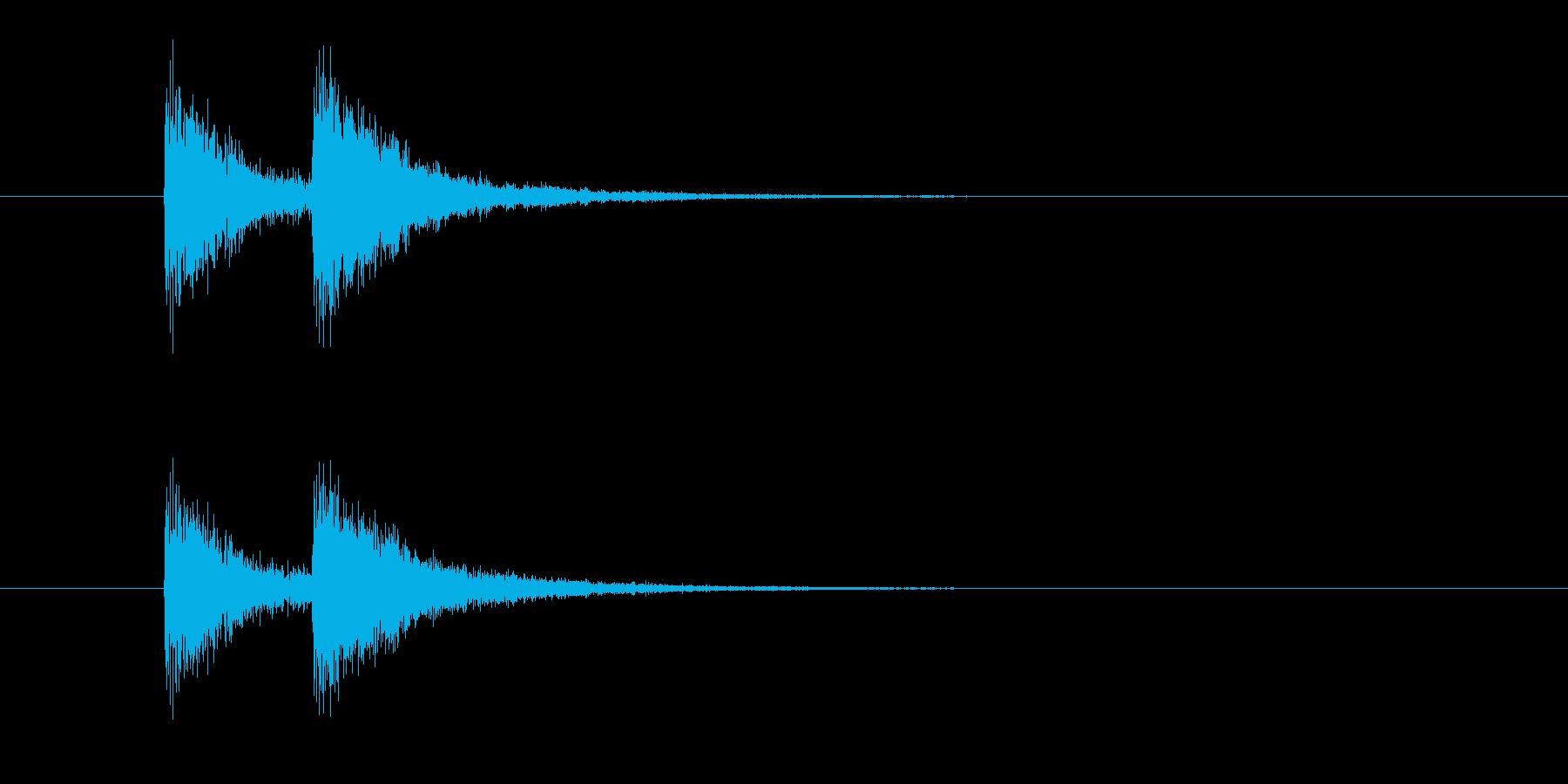ジャンジャン(終わり、締め、コント)の再生済みの波形