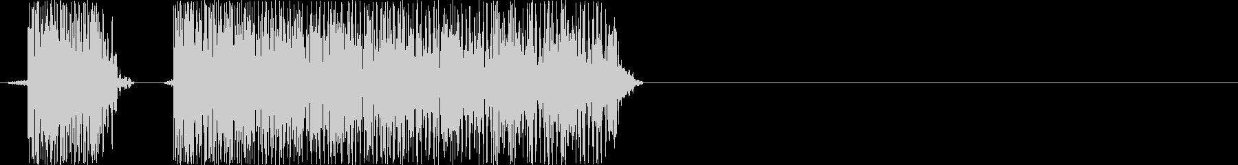 ブブー(PCやロボットのエラー音)の未再生の波形