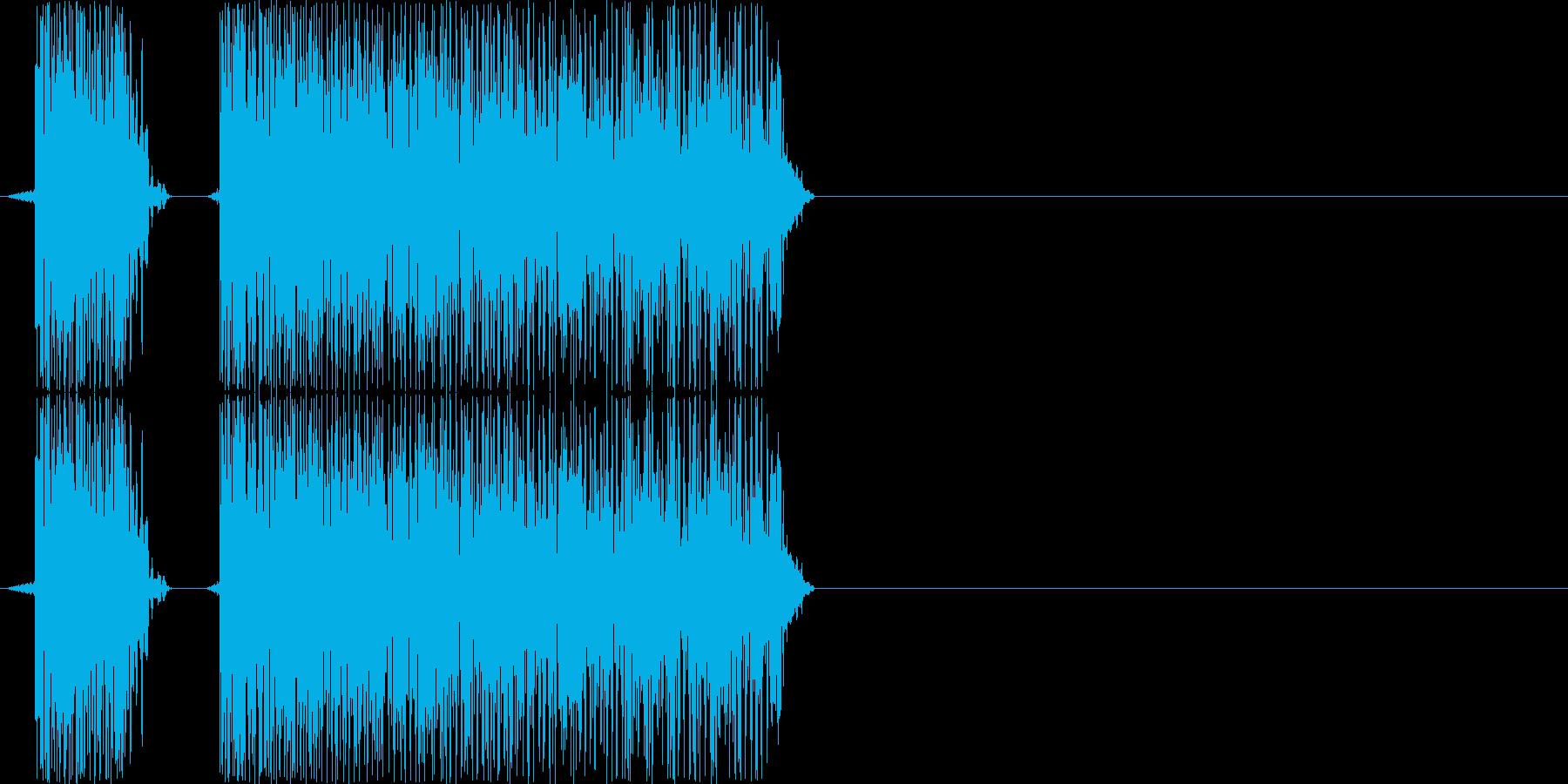ブブー(PCやロボットのエラー音)の再生済みの波形