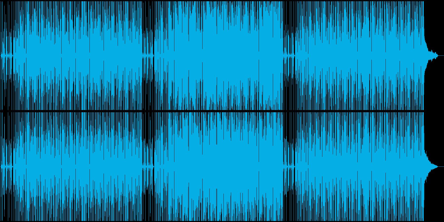 ハードボイルド調のユニゾンギターリフの再生済みの波形