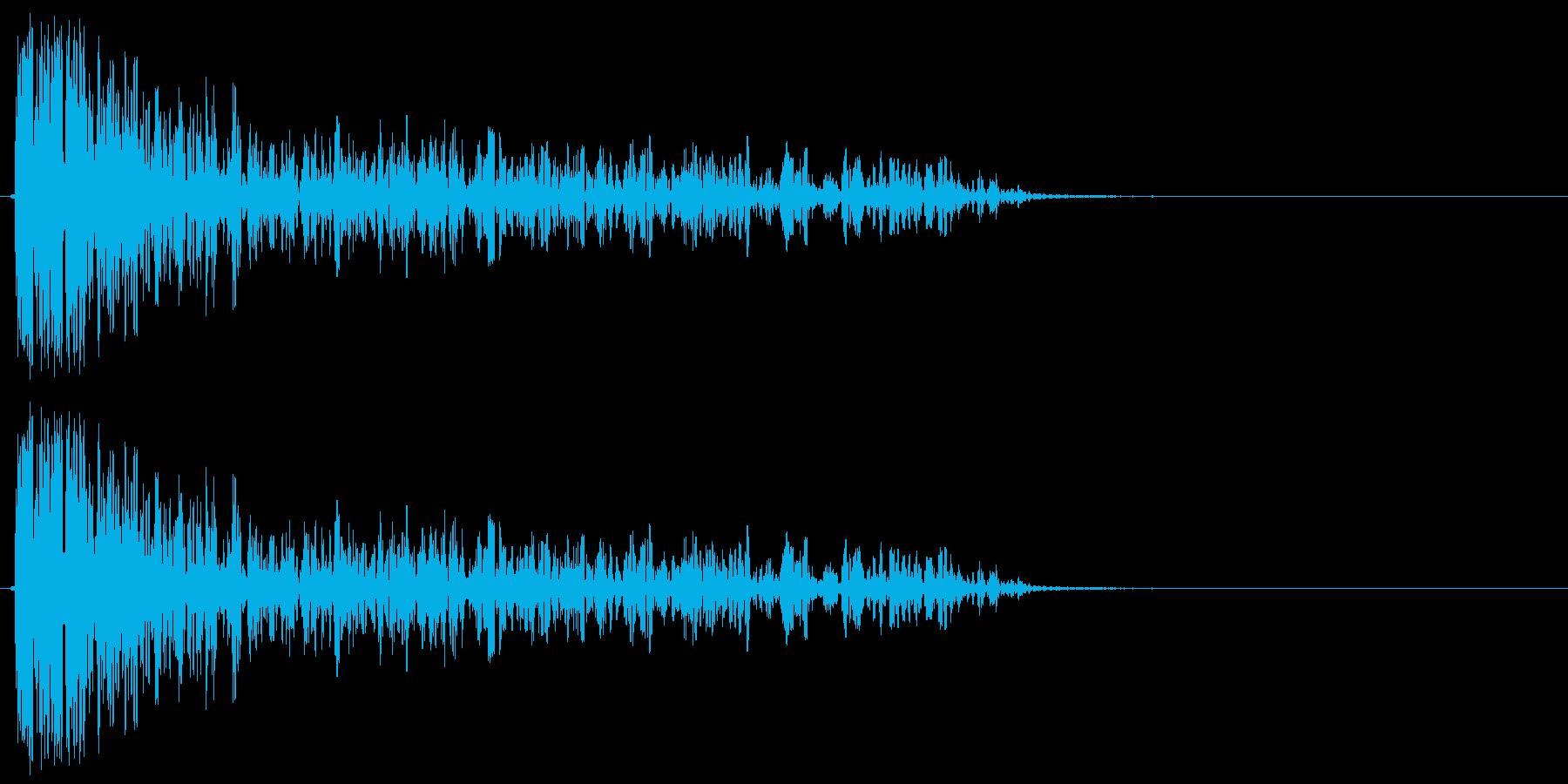 バズーカ砲の効果音、バズーカ砲、キャノ…の再生済みの波形