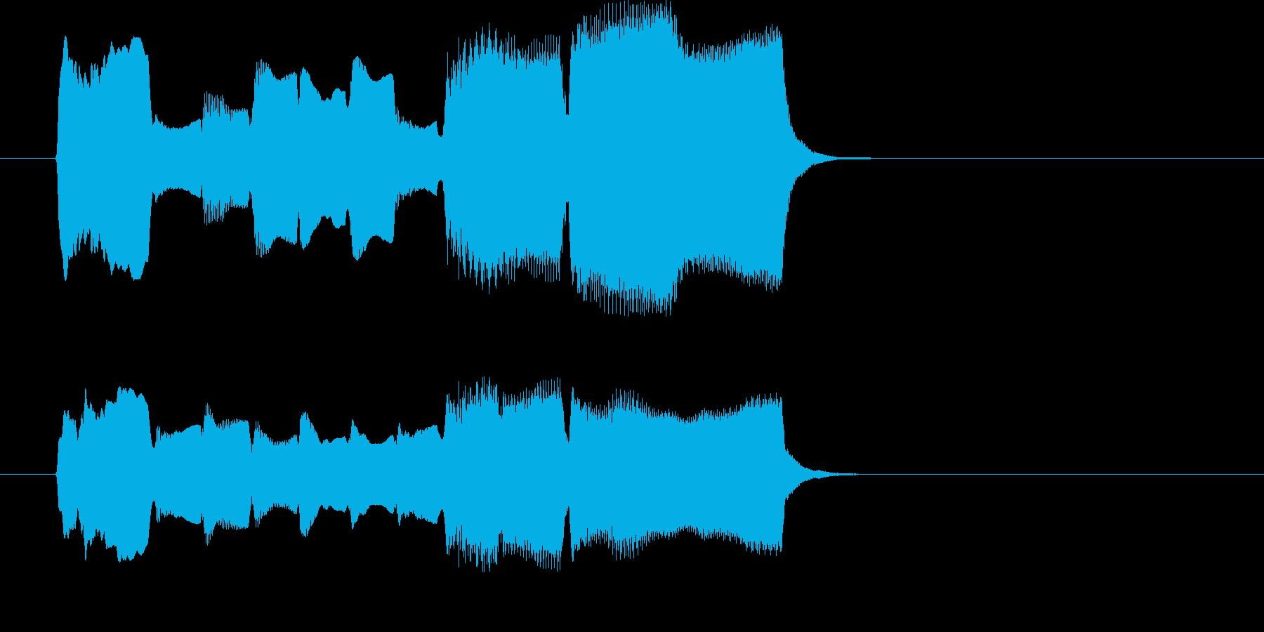 木管楽器による場面転換・アイキャッチの再生済みの波形