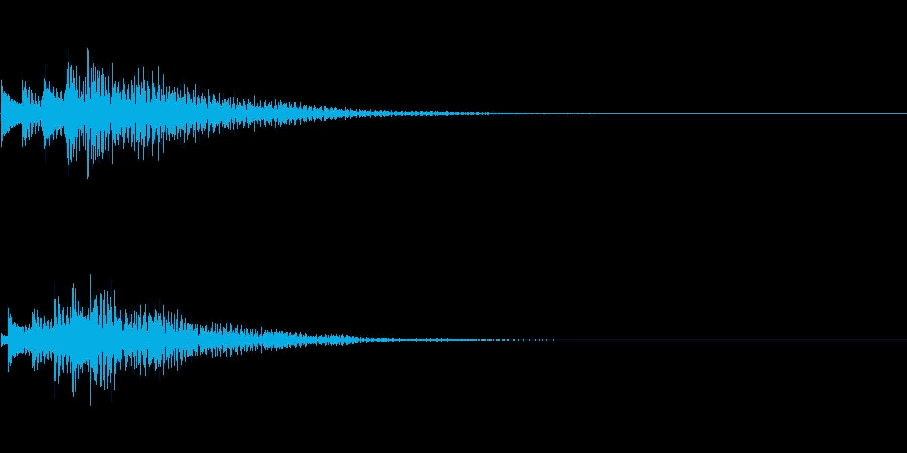 システム音13_シンセDPの再生済みの波形
