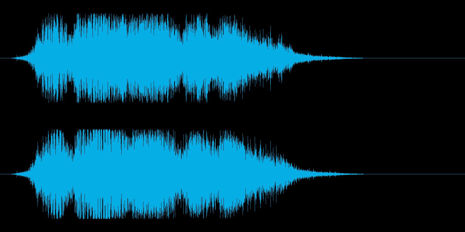 斬撃音(刀や剣で斬る/刺す効果音)11cの再生済みの波形