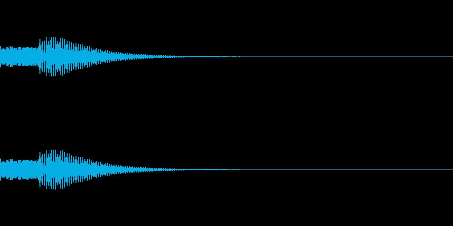 メッセージを受け取った短い着信音(木琴)の再生済みの波形