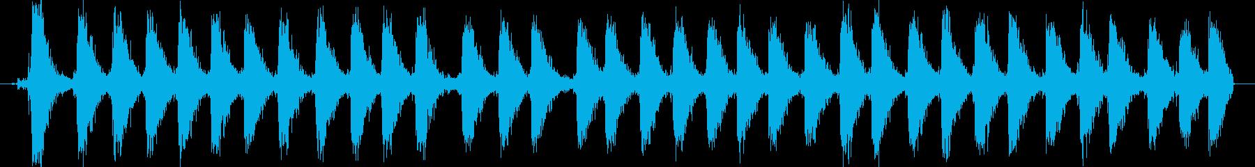 【銃声音016】マシンガンの音の再生済みの波形