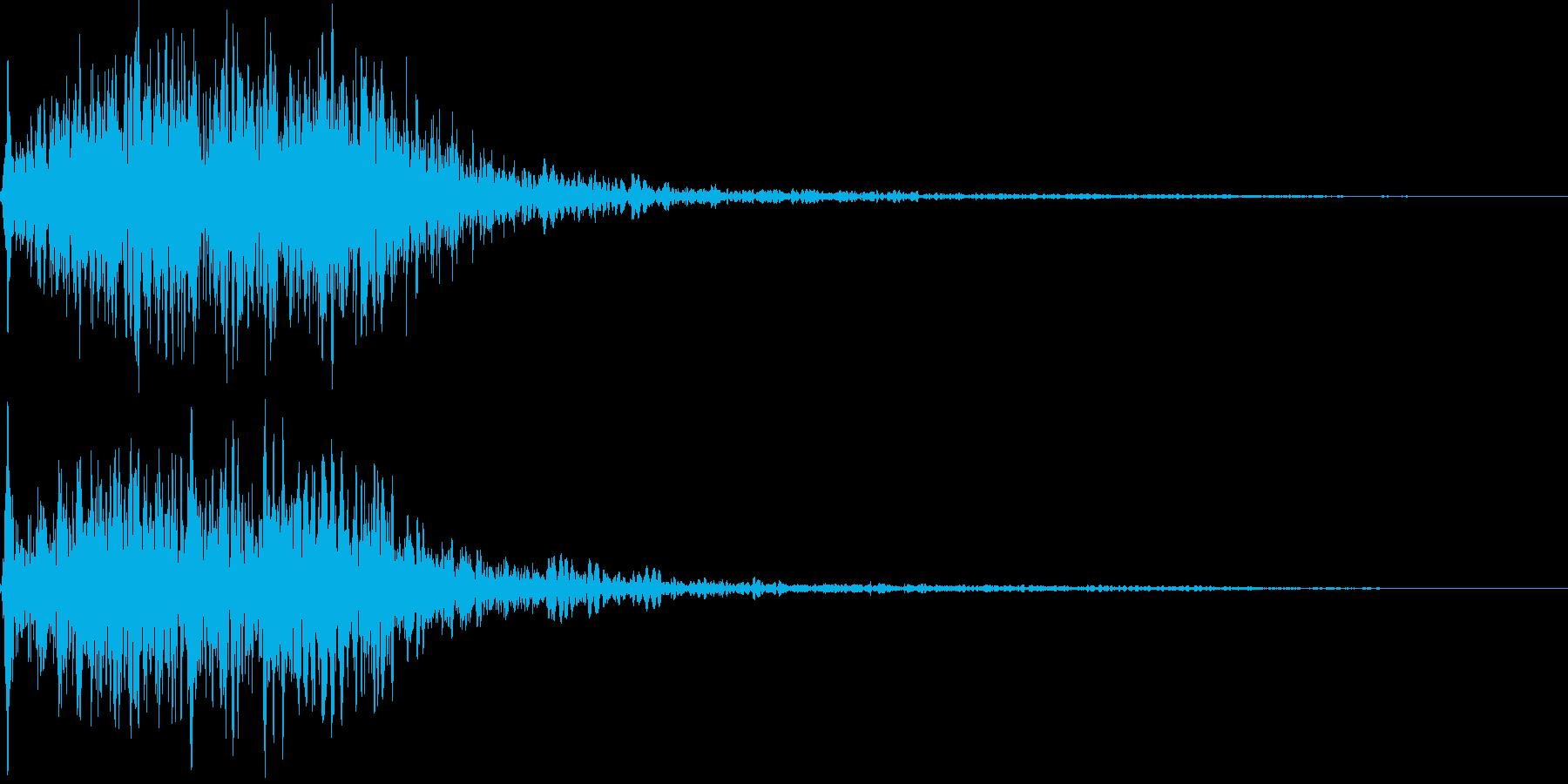 吹きすさぶ風・竜巻系の魔法(中2)sの再生済みの波形
