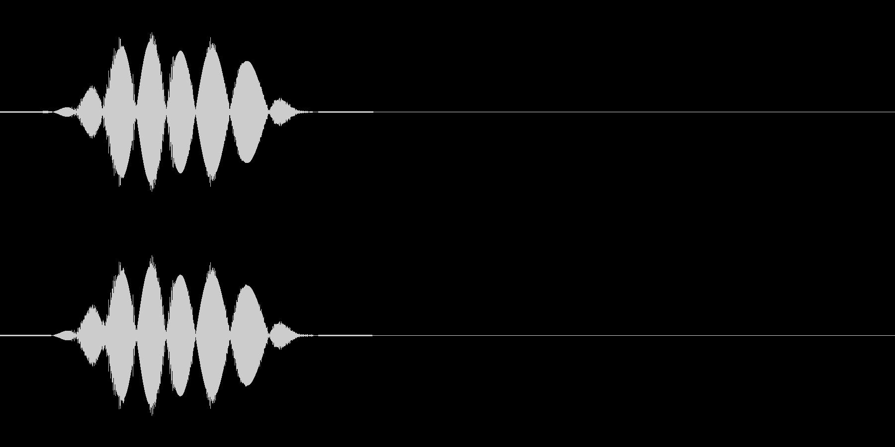 軽く殴る乾いた音の効果音の未再生の波形