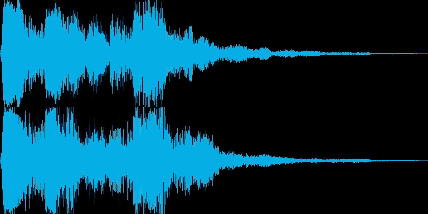 キラキラしたSEです。決定、回復、獲得音の再生済みの波形