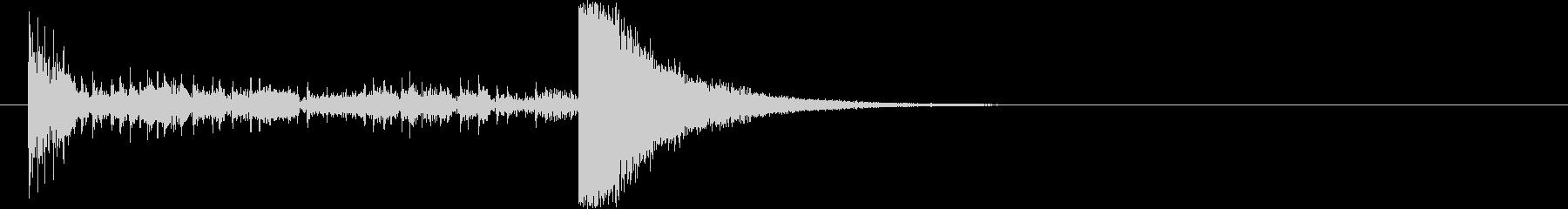 結果発表ドコドコ・ロール5秒シンバル有の未再生の波形