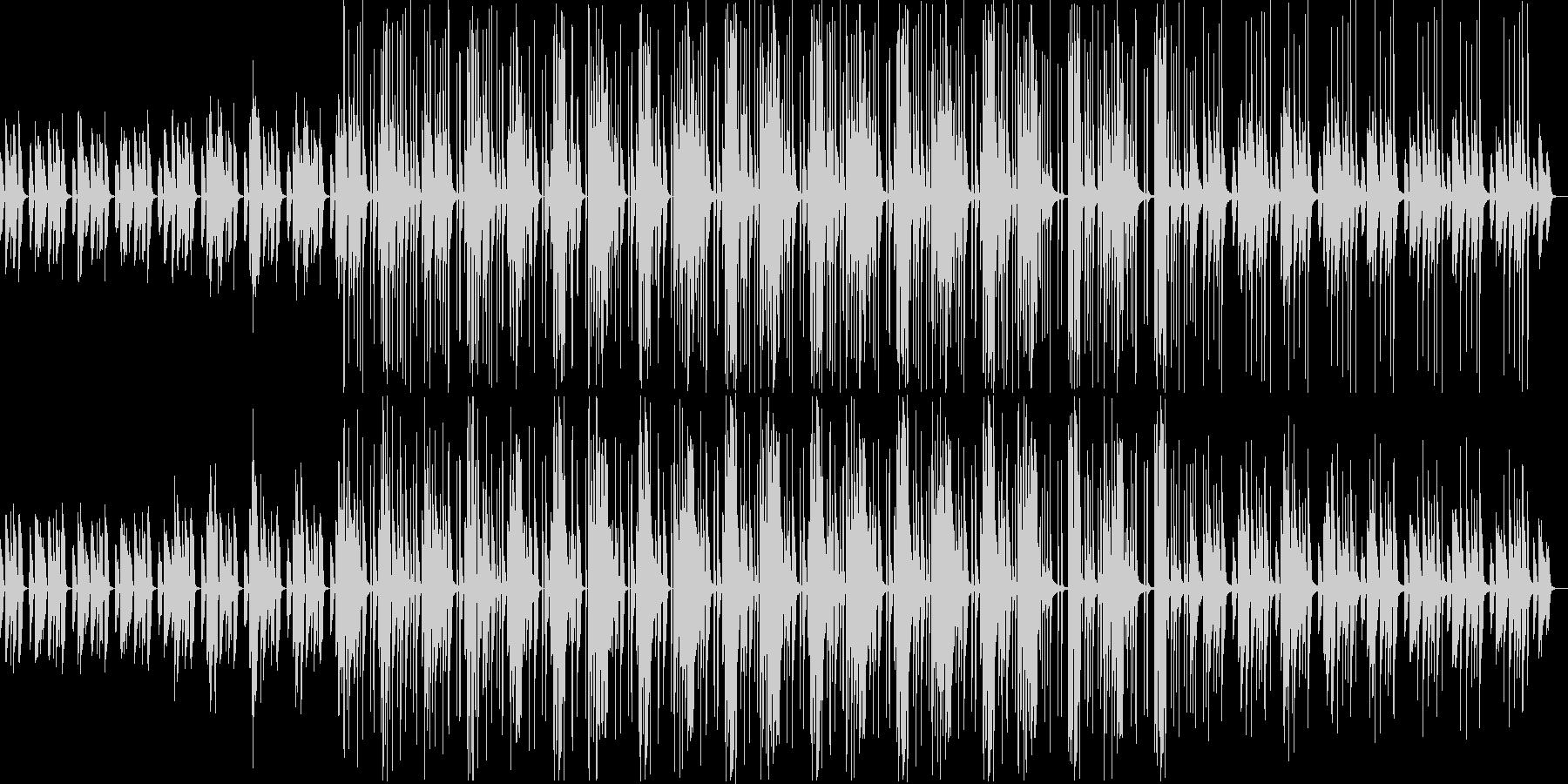 ほんわかポップでかわいらしいBGMの未再生の波形