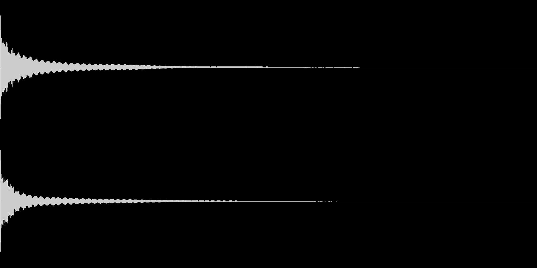 """「コーン」和打楽器の""""きん""""の単発音Fxの未再生の波形"""
