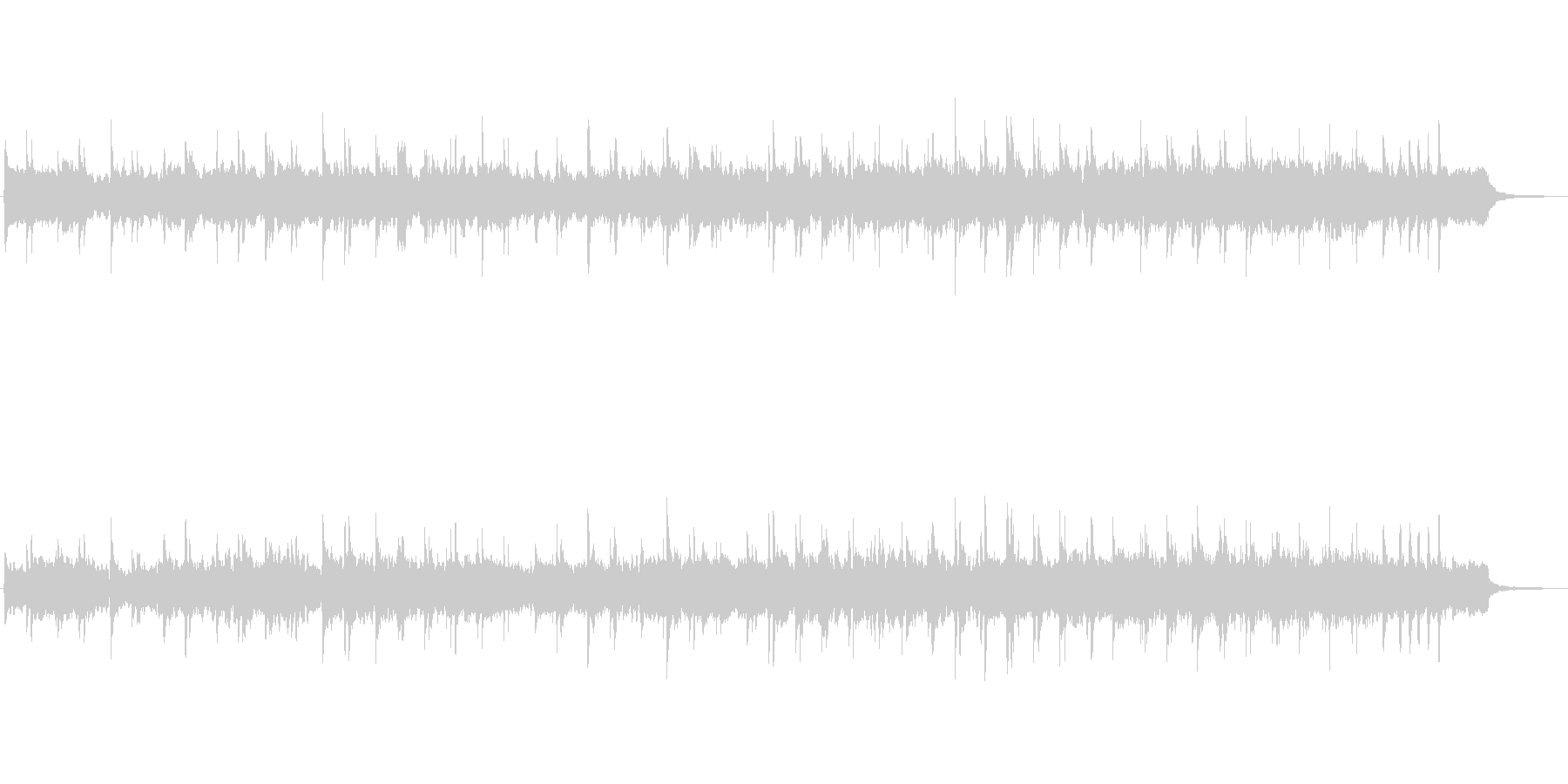 シンセとハープによる幻想的なお城の音楽の未再生の波形