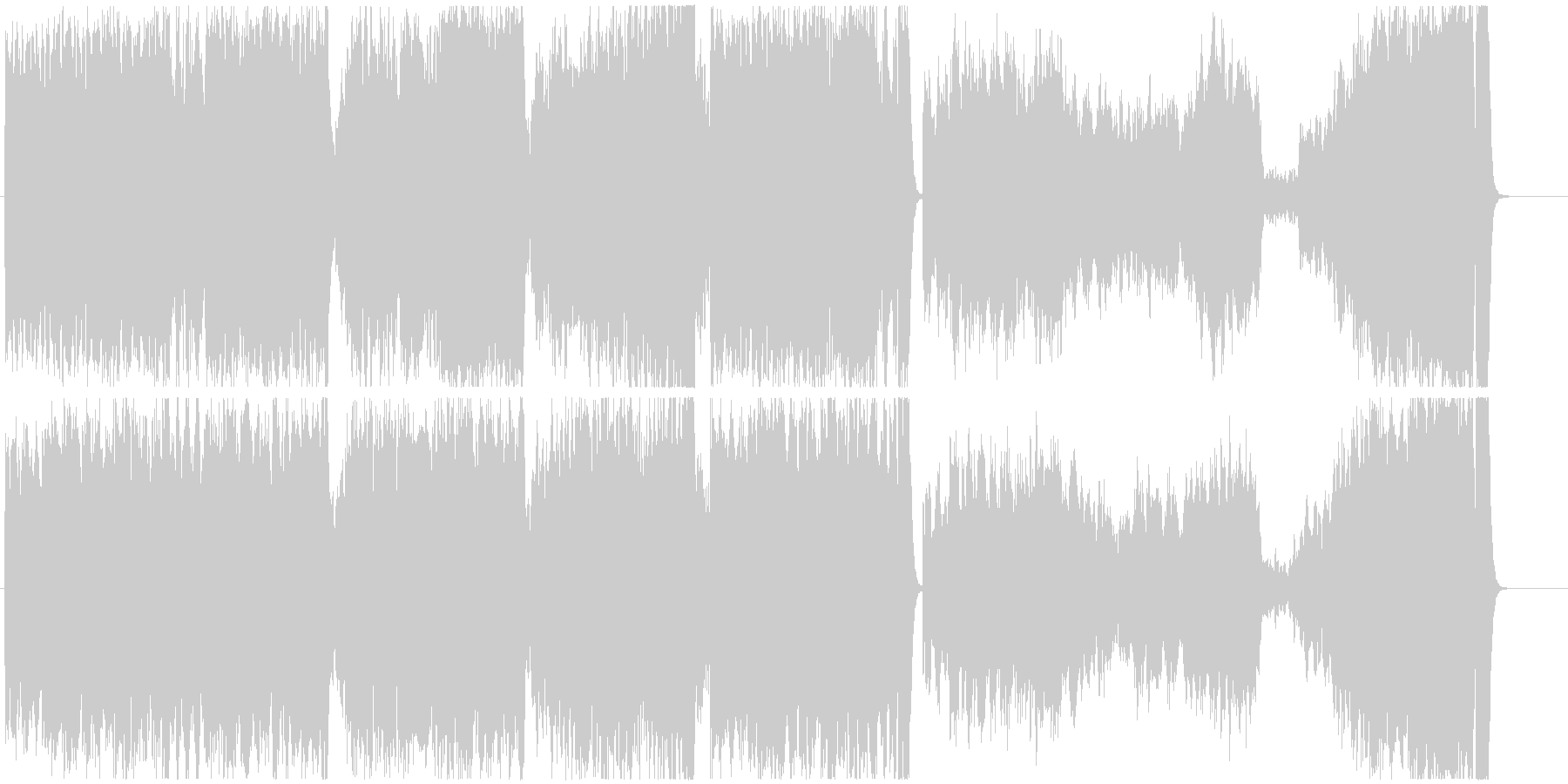 犬のお父さんのCMでお馴染みのクラシックの未再生の波形