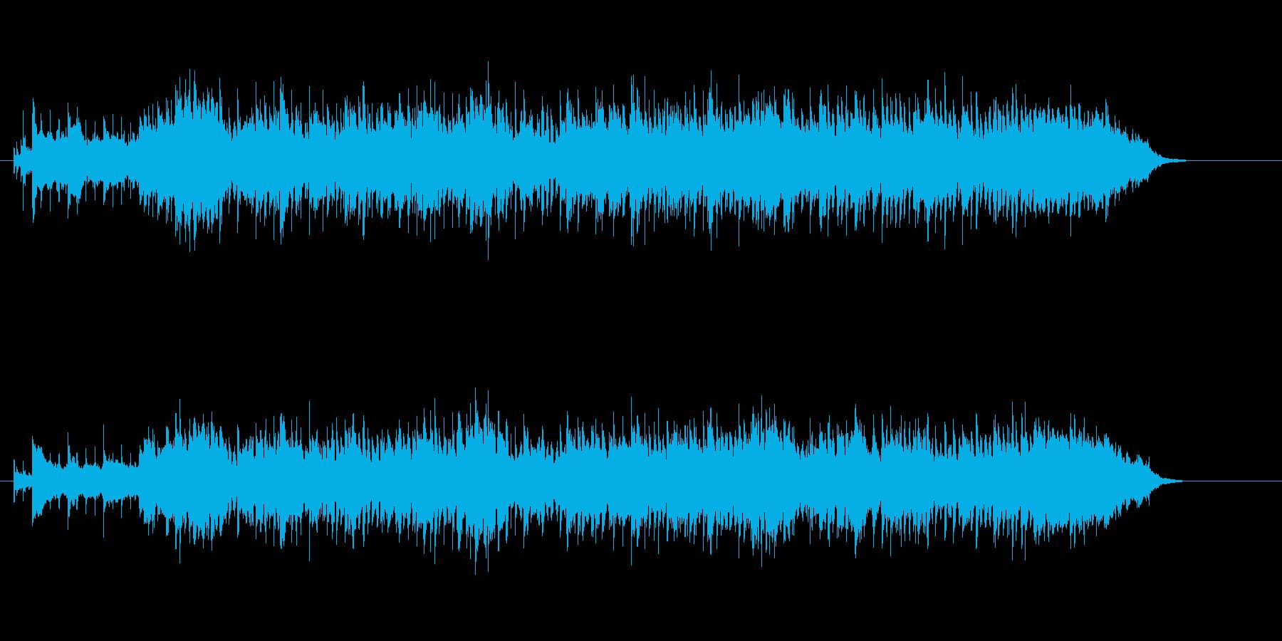 美しいメロディーの8ビート・ポップスの再生済みの波形