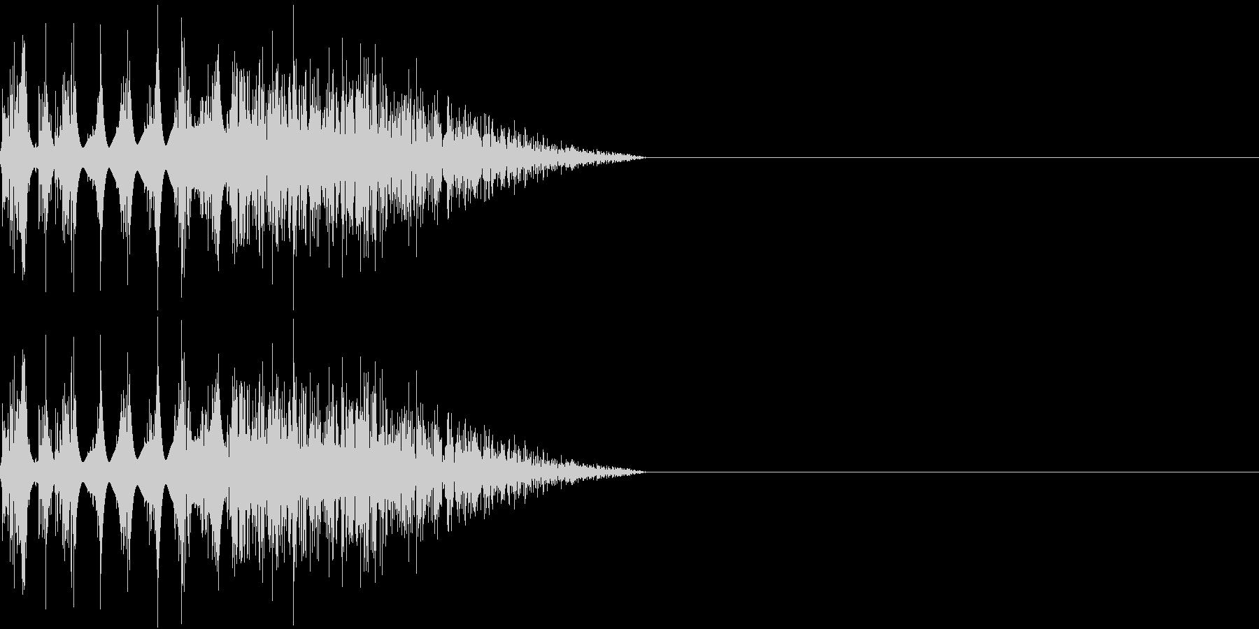 DTM Snare 2 オリジナル音源の未再生の波形