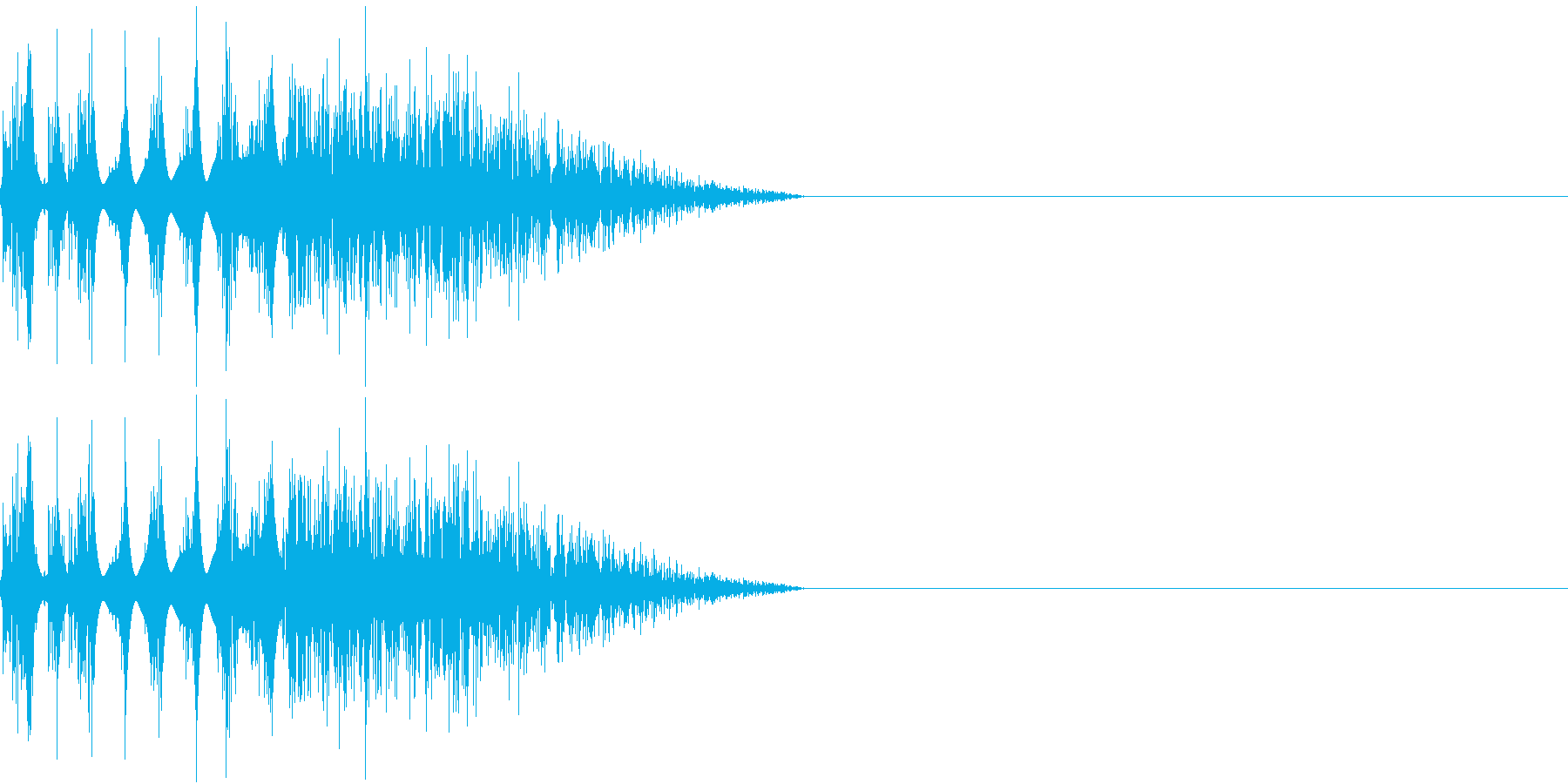 DTM Snare 2 オリジナル音源の再生済みの波形