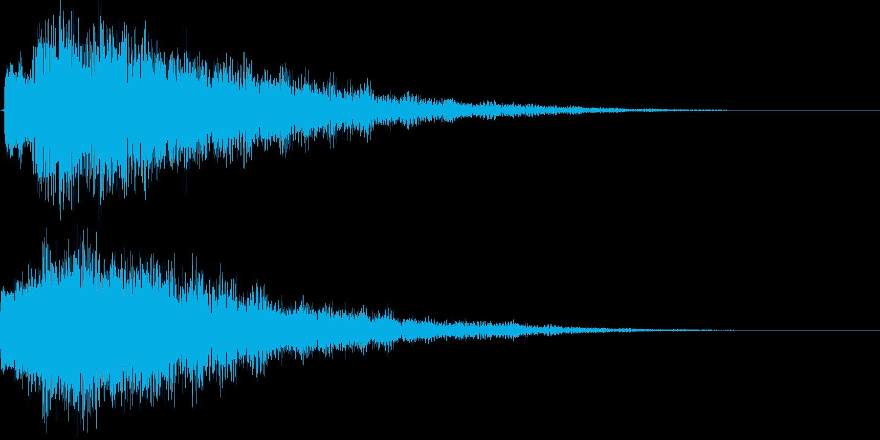 決定、ひらめき等の効果音です ver3の再生済みの波形