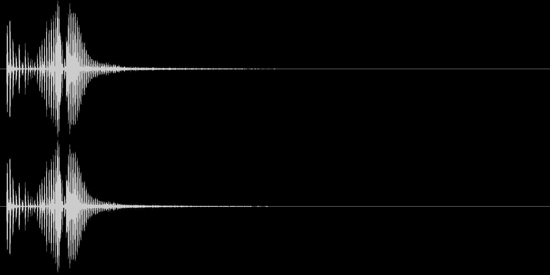 レーザービーム音(ピ、チューン)の未再生の波形