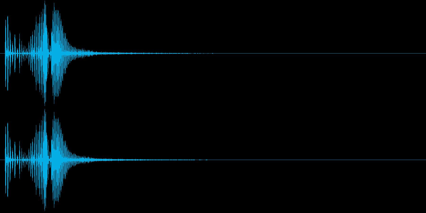 レーザービーム音(ピ、チューン)の再生済みの波形