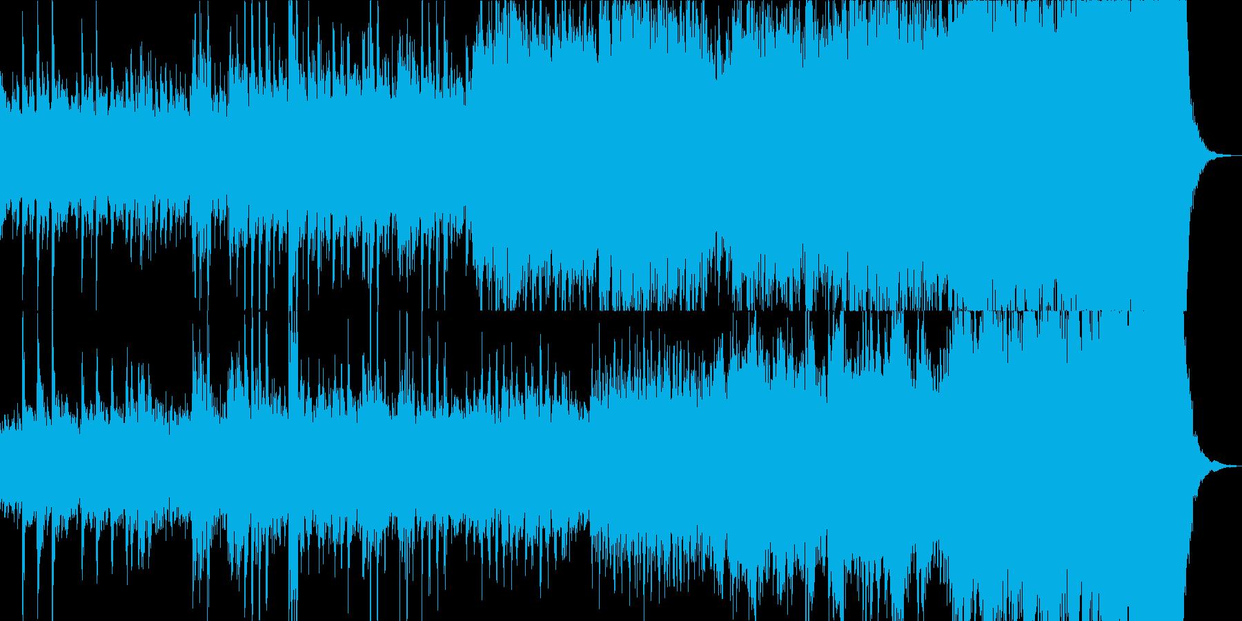 シリアス、ミステリー、緊迫なストリングスの再生済みの波形