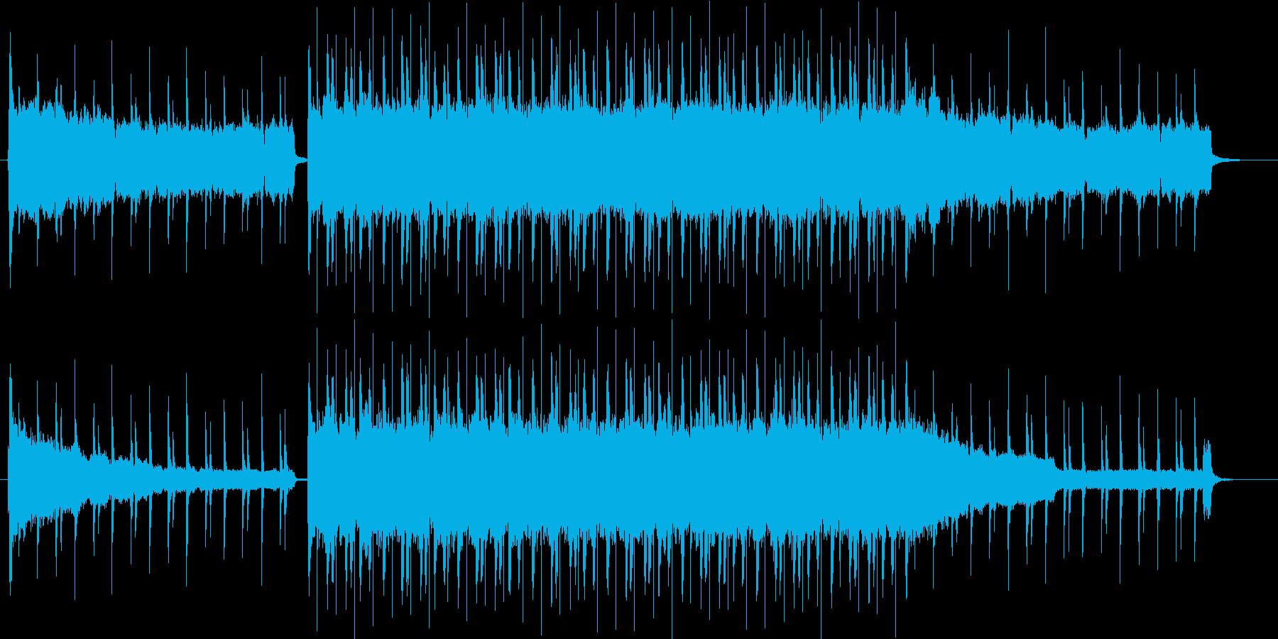 爽やかで軽快なポップロックの再生済みの波形