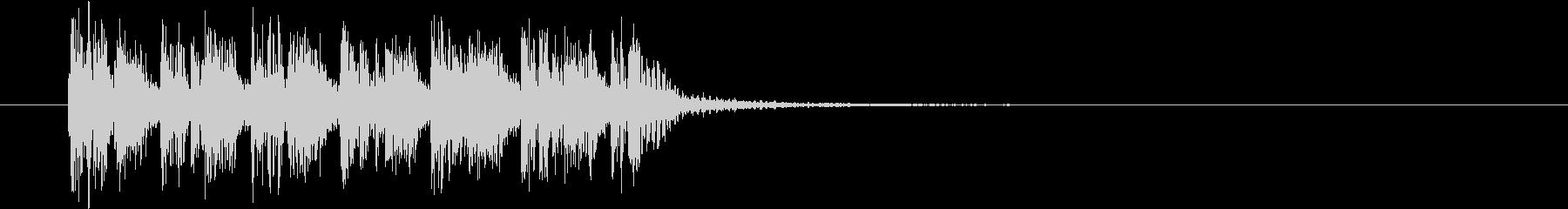 ダンサブルなEDMのジングル曲の未再生の波形