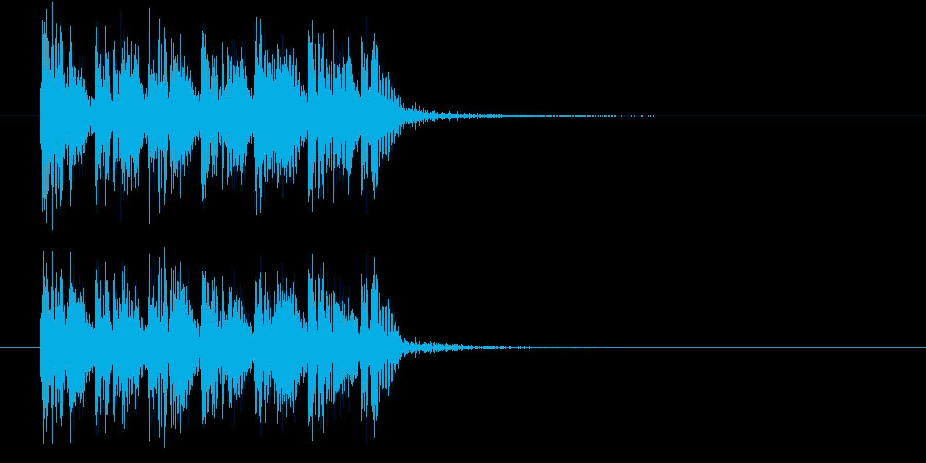 ダンサブルなEDMのジングル曲の再生済みの波形