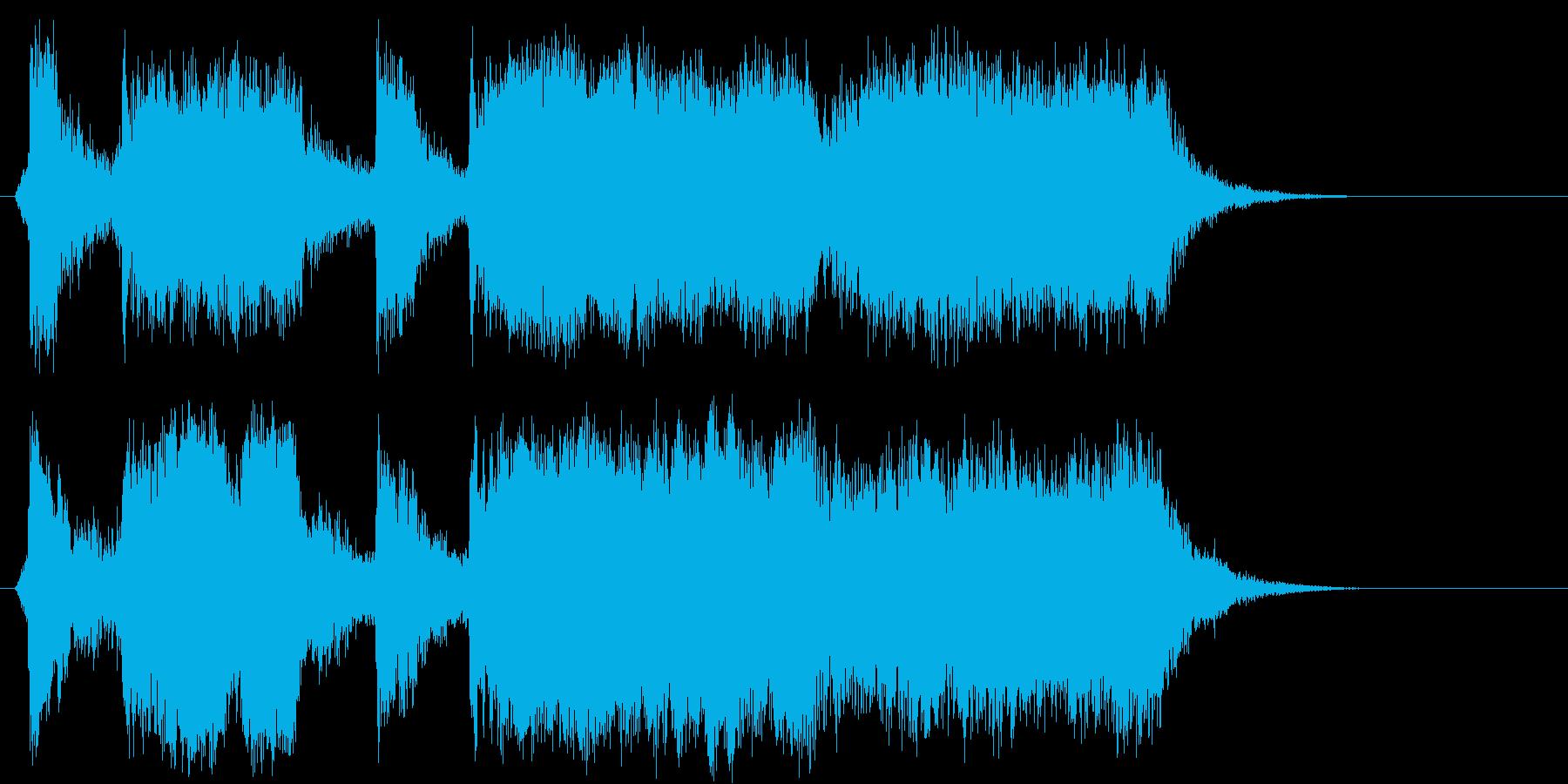 明るく壮大なオーケストラジングルの再生済みの波形