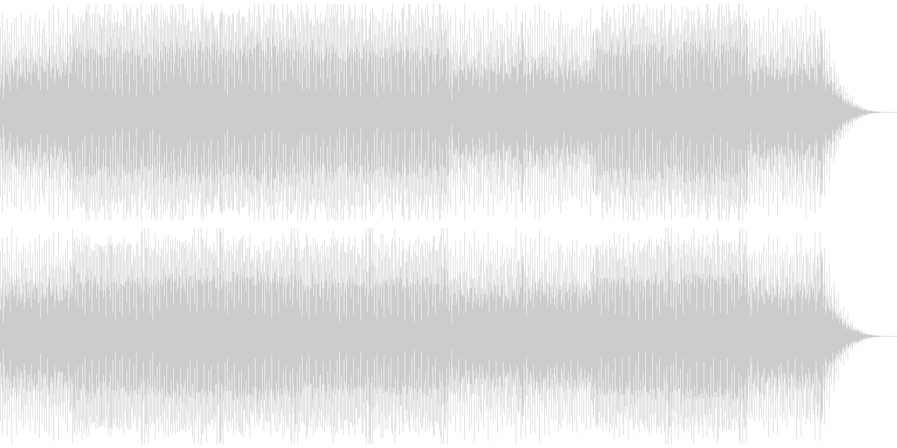 これから何か始まる雰囲気のBGMの未再生の波形