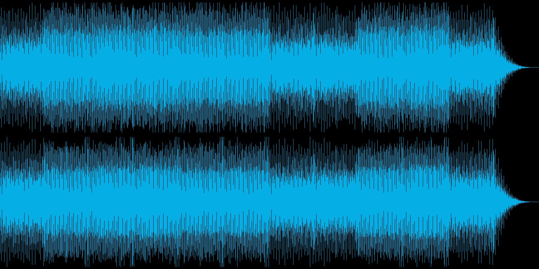 これから何か始まる雰囲気のBGMの再生済みの波形