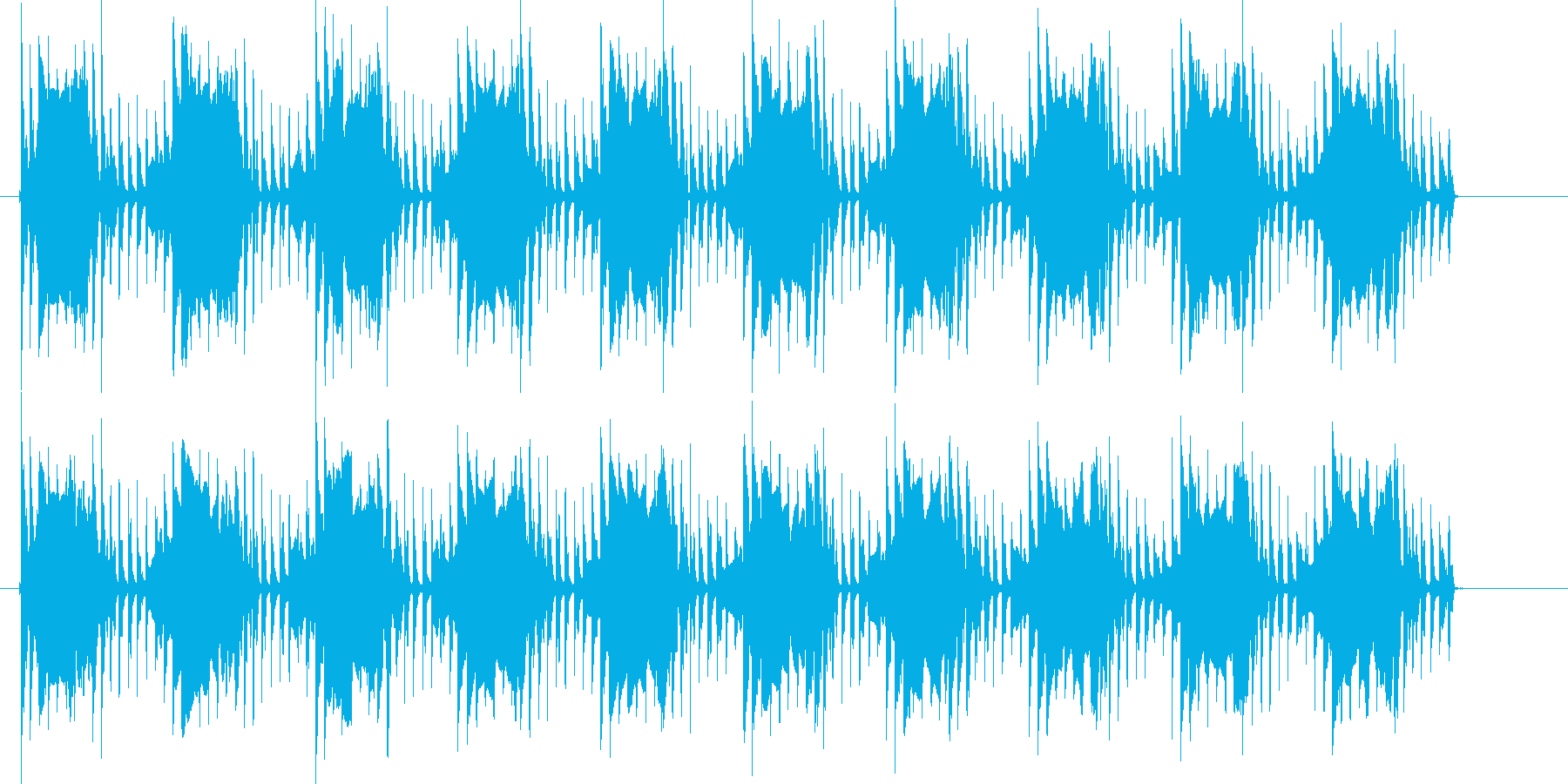 ピコピコン(電子音が繰り返される)の再生済みの波形
