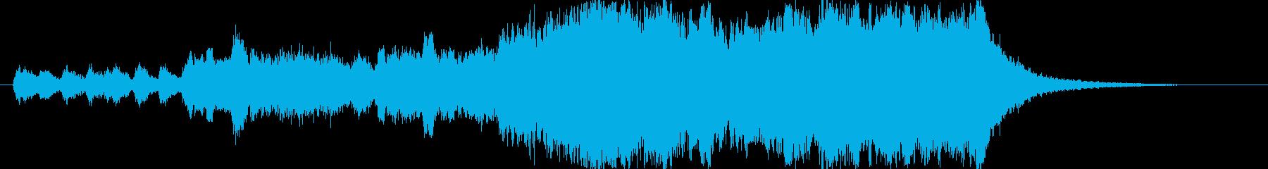 邦画 壮大なオープニングタイトルの再生済みの波形